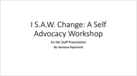 self-advocacy workshop