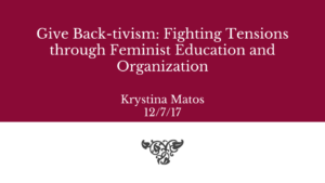 Krystina created a project to highlight differential oppositional  consciousness that Chela Sandoval introduces as the most pivotal for  changing the dominant ... ce58e6623